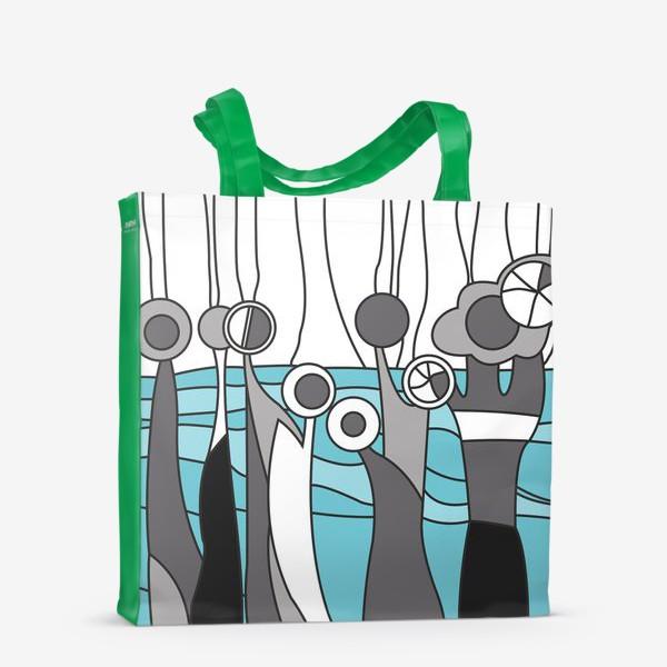 Сумка-шоппер «Космический лес цветы»