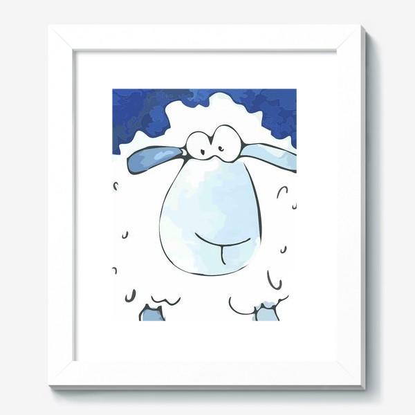 Картина «Кудрявая белая овечка»