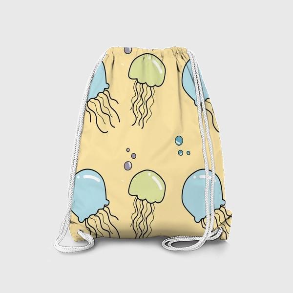 Рюкзак «Паттерн с медузами»