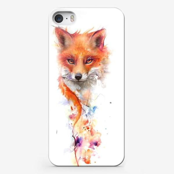 Чехол iPhone «лисица акварель»