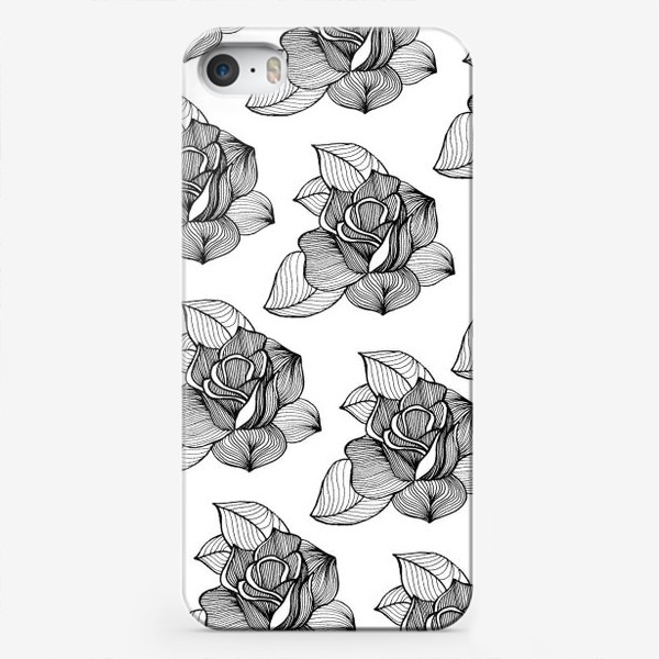 Чехол iPhone «Black roses»