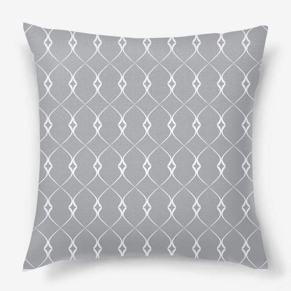 Подушка «Элегантный геометрический паттерн №1»