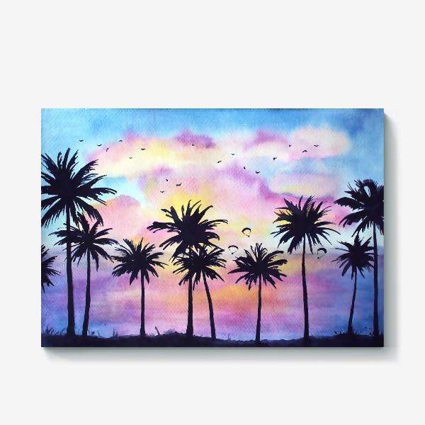 Холст «Тропический закат»