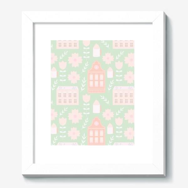 Картина «Голландские домики. Мятный и персиковый.»