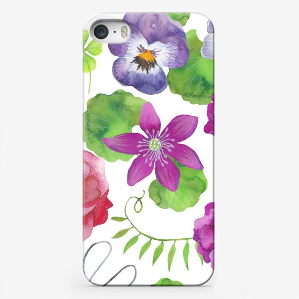 Чехол iPhone «Садовые цветы»