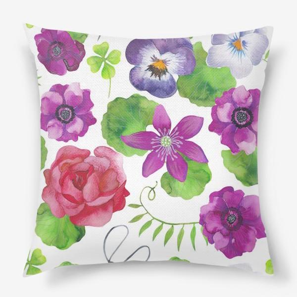 Подушка «Садовые цветы»