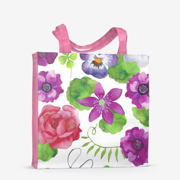 Сумка-шоппер «Садовые цветы»