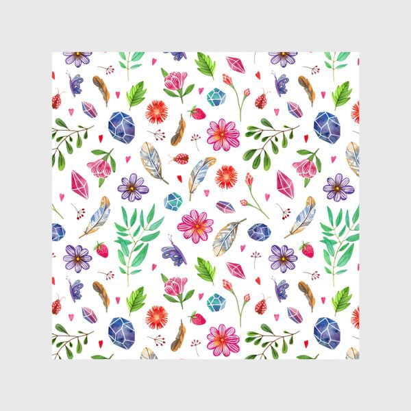 Шторы «watercolor boho pattern»