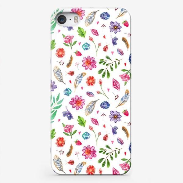 Чехол iPhone «watercolor boho pattern»