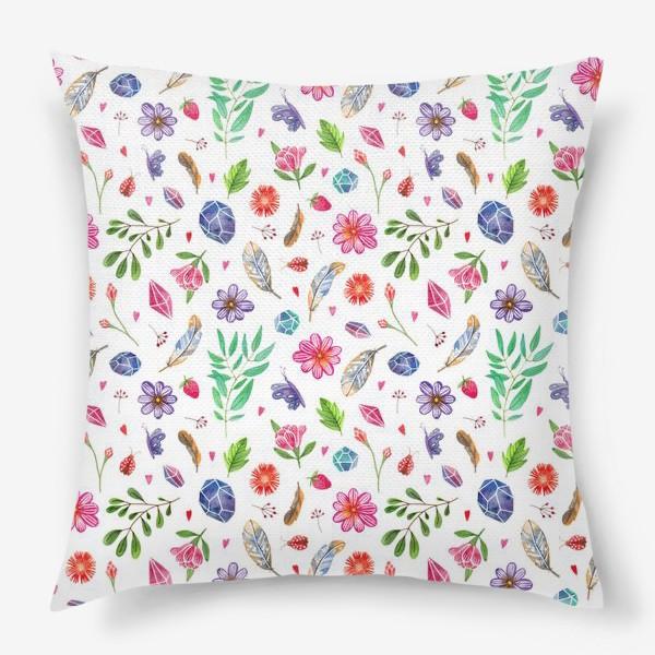 Подушка «watercolor boho pattern»