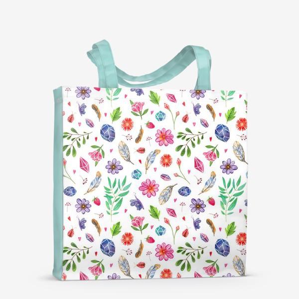 Сумка-шоппер «watercolor boho pattern»