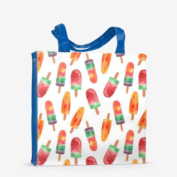 Сумка-шоппер «fruit ice cream. pattern. фруктовое мороженое. паттерн»