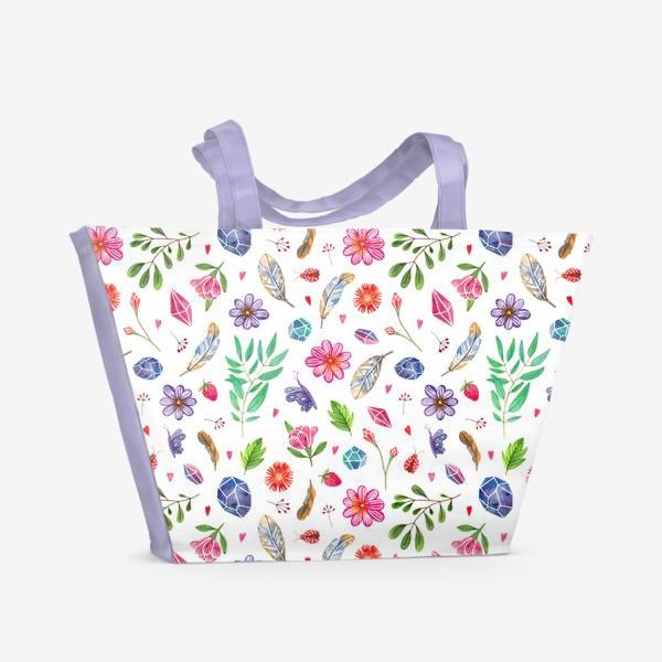 Пляжная сумка «watercolor boho pattern»