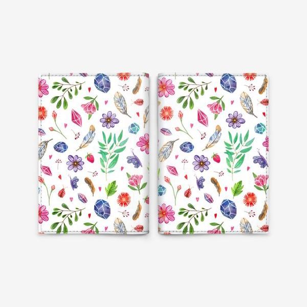 Обложка для паспорта «watercolor boho pattern»