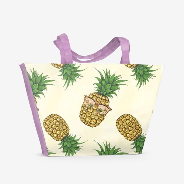 Пляжная сумка «Ананас в очках»