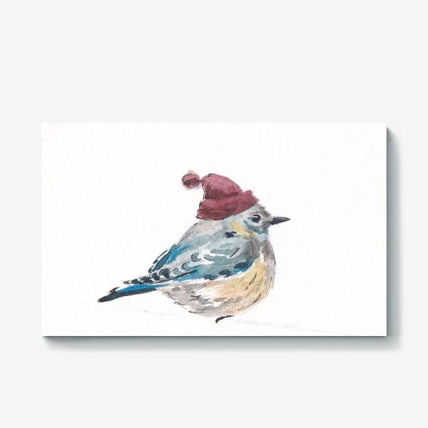 Холст «Птица в шапке»