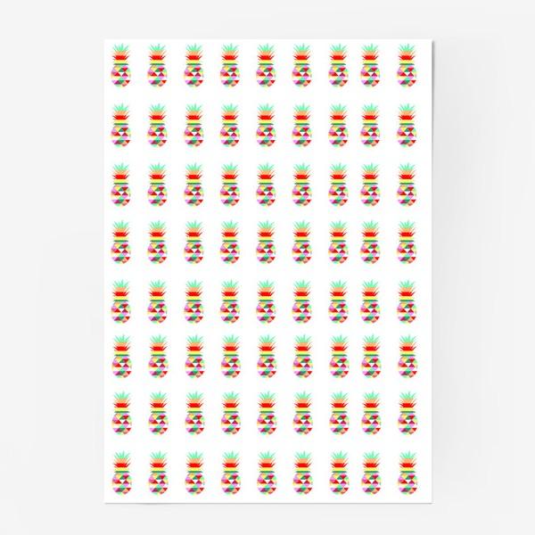 Постер «ананасовый паттерн»