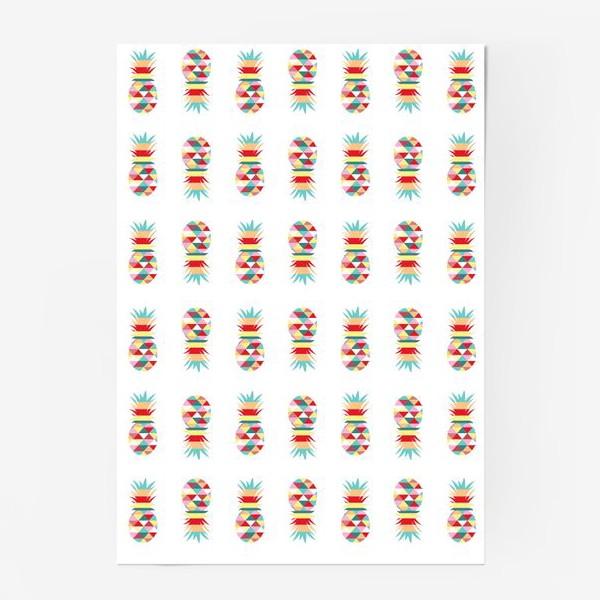 Постер «паттерн ананасовый»