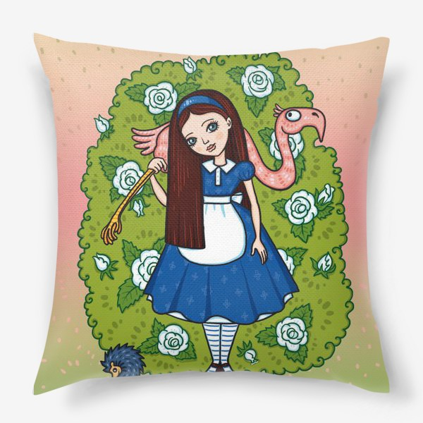 Подушка «Алиса в стране чудес.»