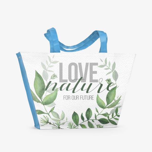 Пляжная сумка «Lovenature»