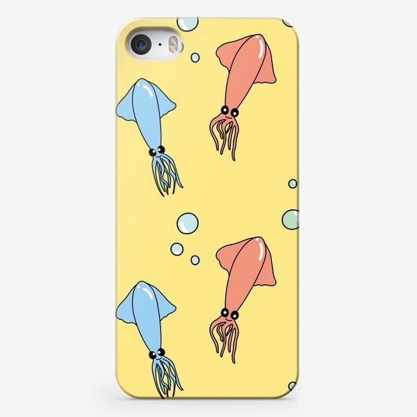 Чехол iPhone «Паттерн с кальмарами»