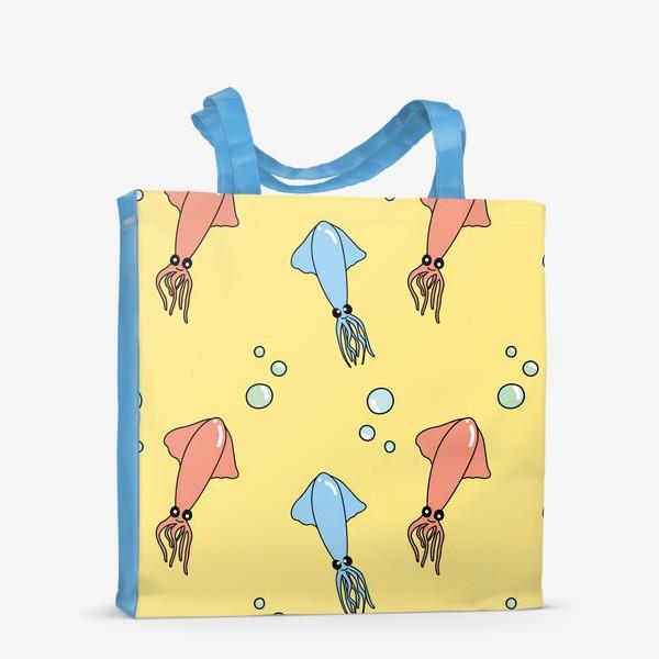 Сумка-шоппер «Паттерн с кальмарами»