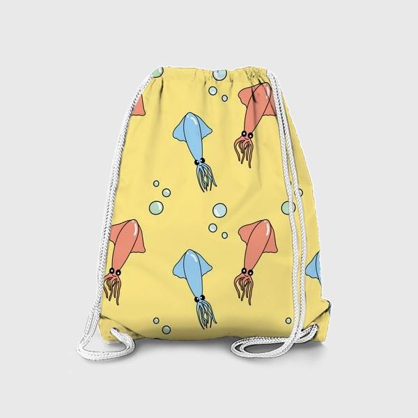 Рюкзак «Паттерн с кальмарами»
