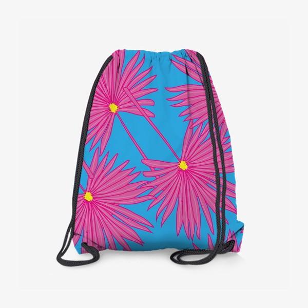 Рюкзак «Паттерн пальмы на голубом»