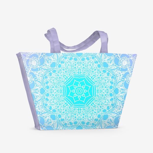 Пляжная сумка «Яркая мандала»