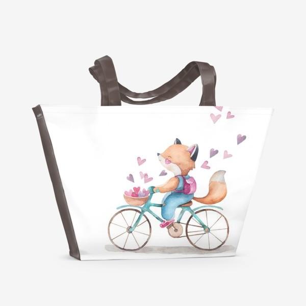 Пляжная сумка «лисья любовь2»