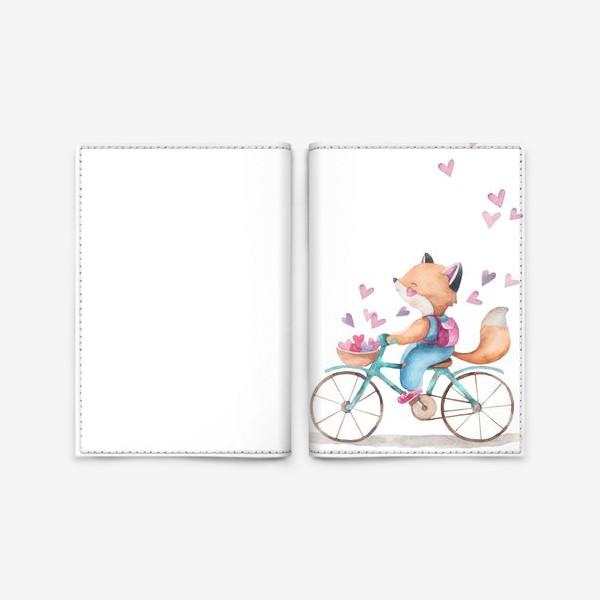 Обложка для паспорта «лисья любовь2»