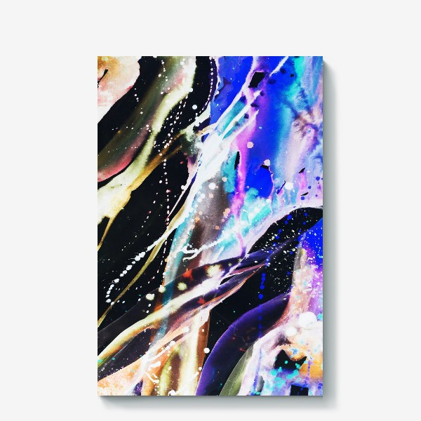 Холст «Акварельный фон с брызгами краски»