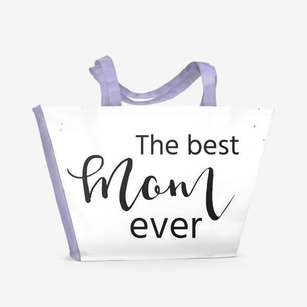 Пляжная сумка «Лучшая мама на свете. Леттеринг»