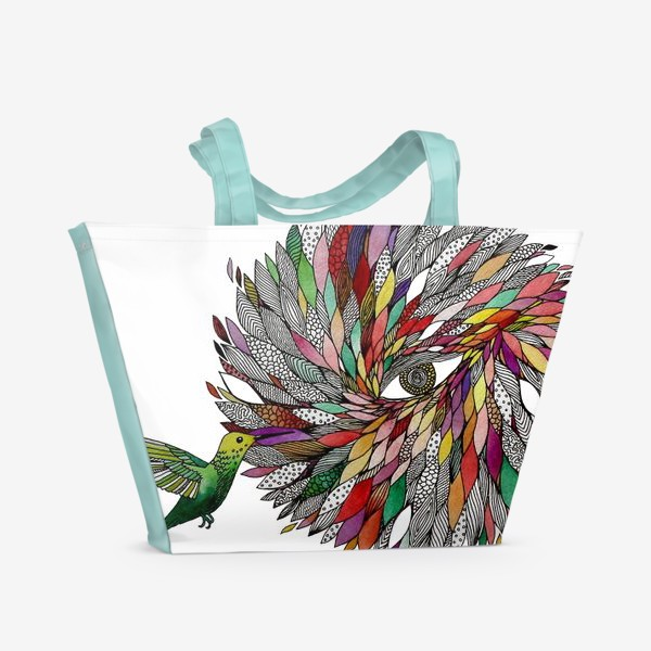 Пляжная сумка «Птицы Колибри»