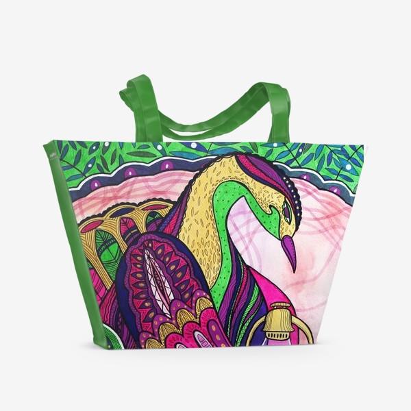 Пляжная сумка «Птица Оберегающая свет»