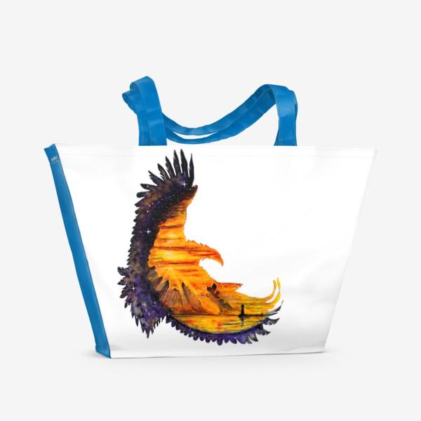 Пляжная сумка «Орел и звезды»