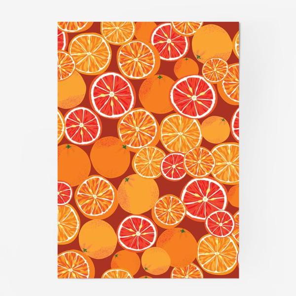 Постер «Апельсины на красном»