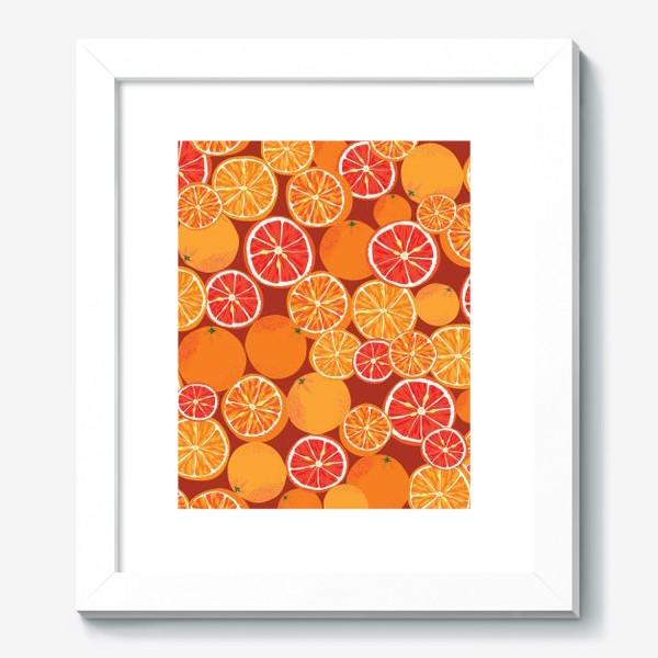 Картина «Апельсины на красном»