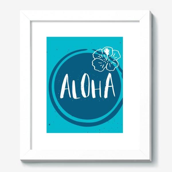 Картина «Гавайские мотивы. Леттеринг»
