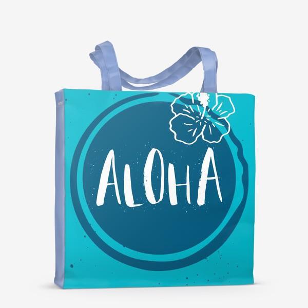 Сумка-шоппер «Гавайские мотивы. Леттеринг»