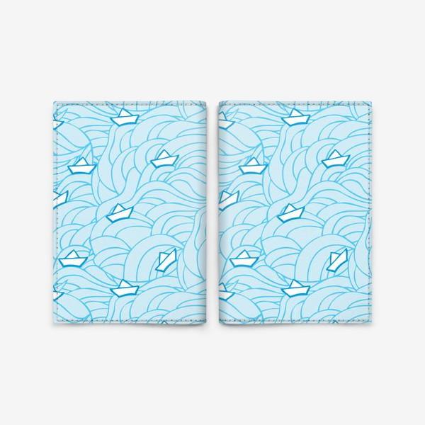 Обложка для паспорта «Кораблики на волнах»