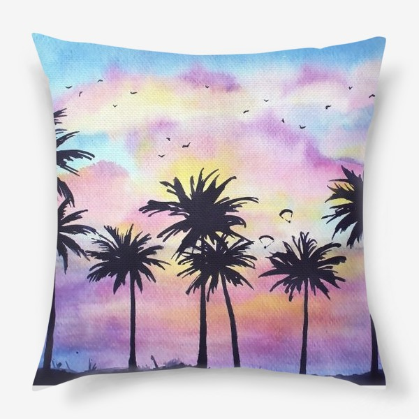 Подушка «Тропический закат»