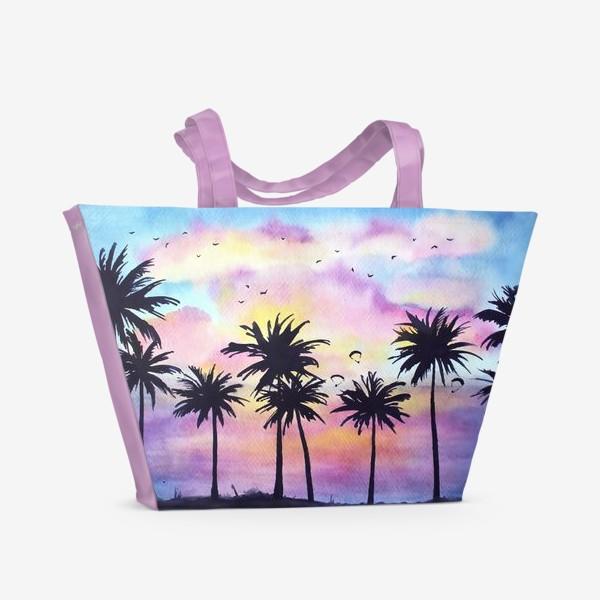 Пляжная сумка «Тропический закат»