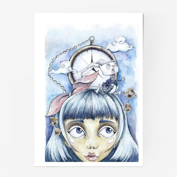 Постер «встреча с белым кроликом»