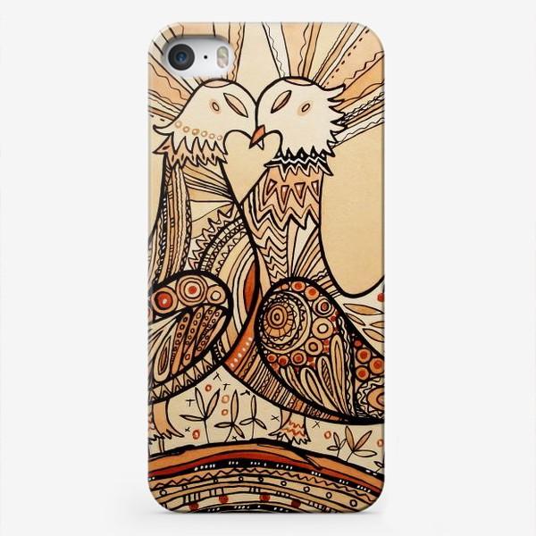 Чехол iPhone «Любовь и голуби»
