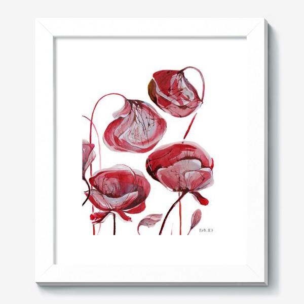 Картина «Цветы Маки акварельные»