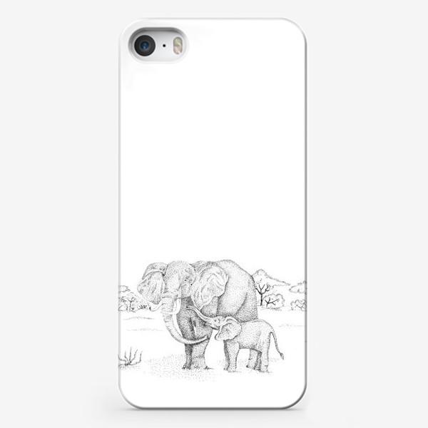 Чехол iPhone «Слоны»