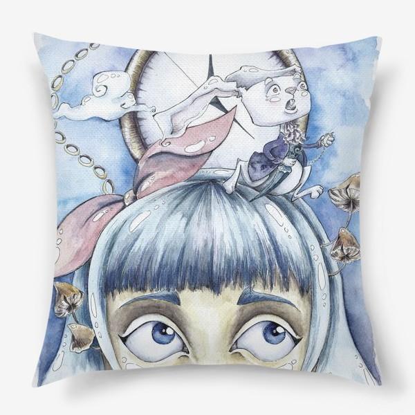 Подушка «встреча с белым кроликом»