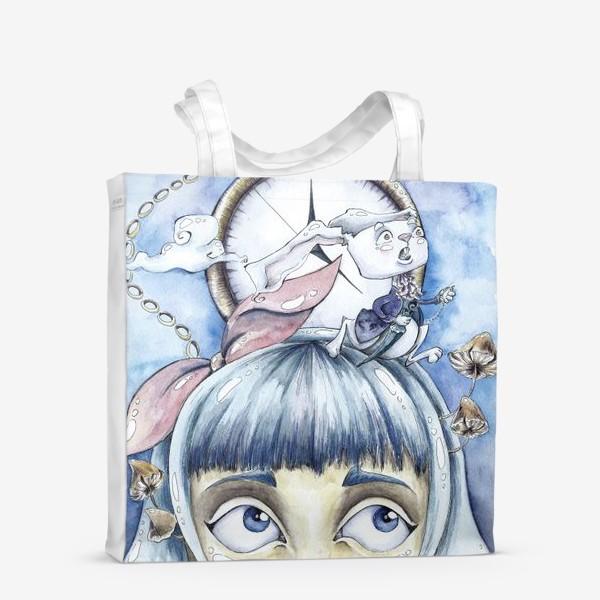 Сумка-шоппер «встреча с белым кроликом»
