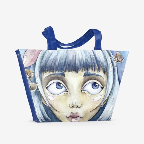 Пляжная сумка «встреча с белым кроликом»